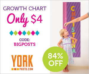 Custom Growth Chart – Only $4 – Save $20.99!