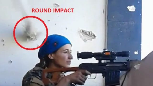 Image result for female sniper shot at by isis