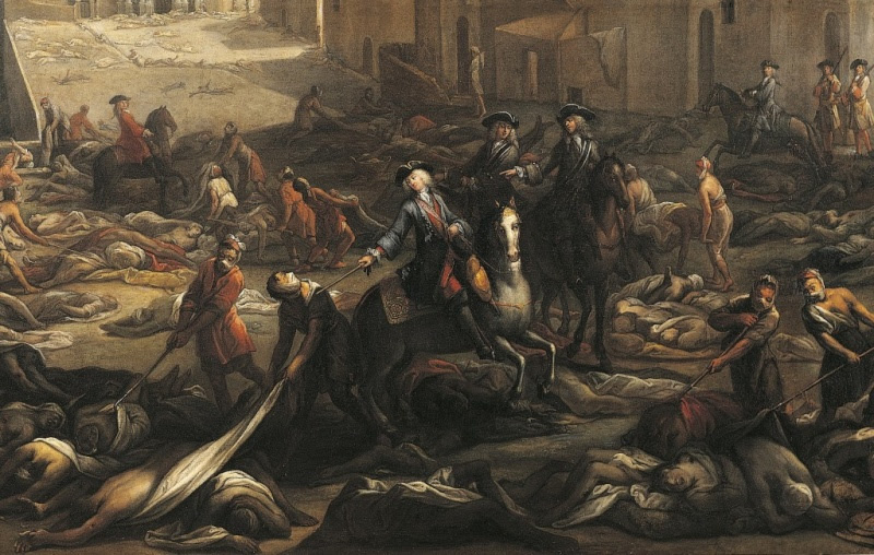 Scène de la Peste de 1720 à la Tourette