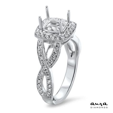 Square Halo Modern Engagement Ring for 1.25ct Stone   AR14