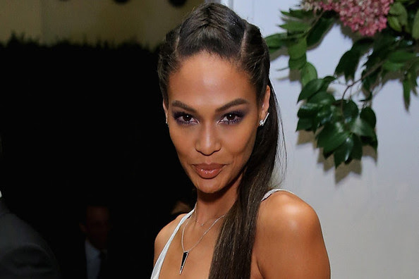 Joan Smalls' Half Up Braided Fauxhawk