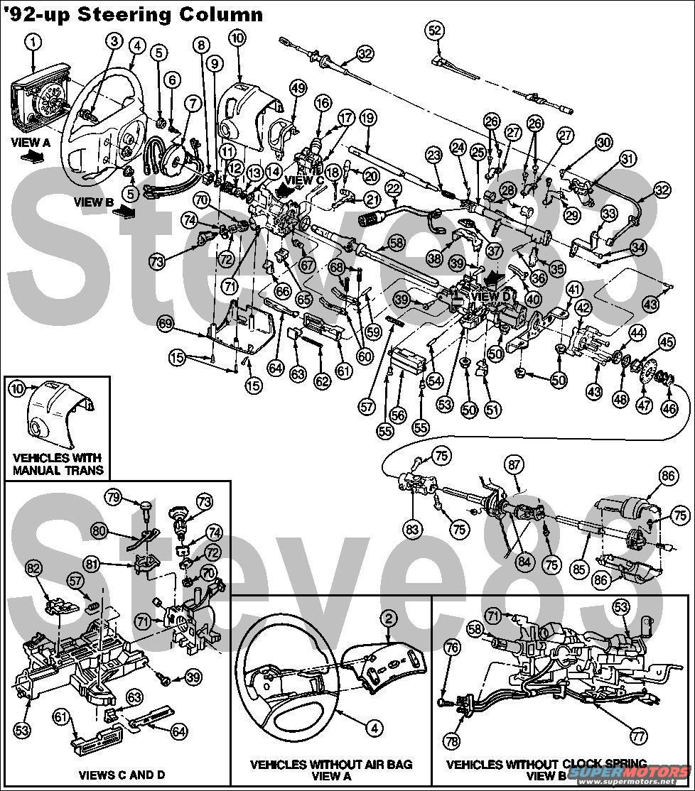 Steering Column Teardown And Ignition Actuator Replacement In A 1995 92 Columns Bronco Forum Full Size Ford Bronco Forum