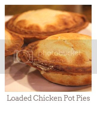 """Loaded Mini Chicken Pot Pies"""