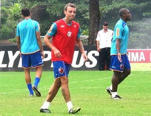 Paulo Sérgio no treino do Flamengo (Foto: Richard Souza / GLOBOESPORTE.COM)
