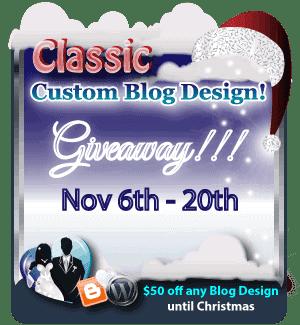 Win a Custom Blog Design