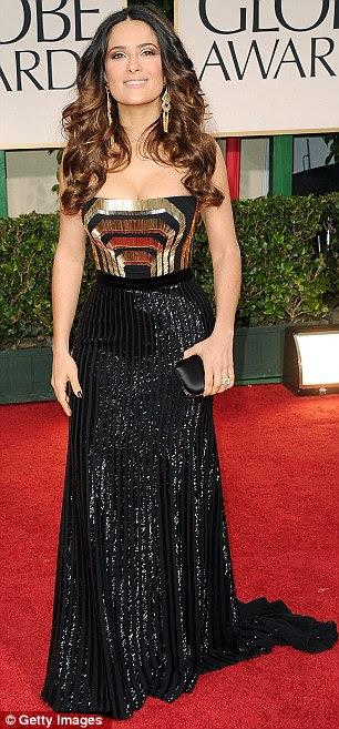 Mais ousado: A atriz mostrou mais carne no Globo de Ouro na semana passada