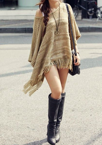 Boho's Crotchet, tan, fringe and necklace combination