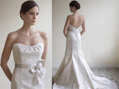 Lazaro Lace 3765 Low Back Silk Duchess Satin Strapless