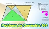 PProblema de Geometría 164 (ESL): Paralelogramo, Trapecio, Diagonales, Área.