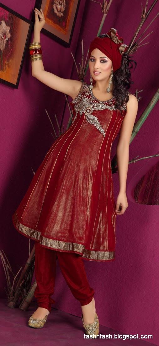 Anarkali Umbrella Fancy Frocks-Indian-Pakistani New Latest Dress Designs Collection 2013-6