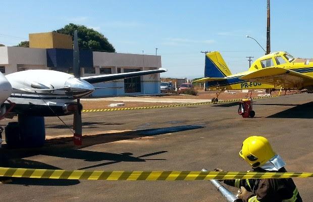 Bombeiros isolaram local do acidente devido à vazamento de combustível, em Formosa, Goiás (Foto: Divulgação/Corpo de Bombeiros)