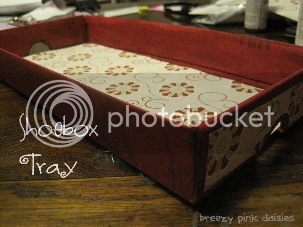 Mini tray made from a shoebox