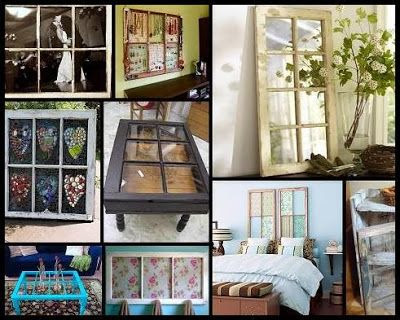 DIY HOW TO: Repurpose Old Salvaged Windows as Home Decor (http://okc-craigslist.blogspot.com) - Decorating with old, repurposed windows is inexpensive, environmentally friendly, and it personalizes your space. Here are five ways to recycle old windows: