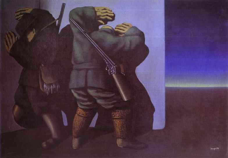 The Hunters at the Edge of Night, 1928 by Rene Magritte