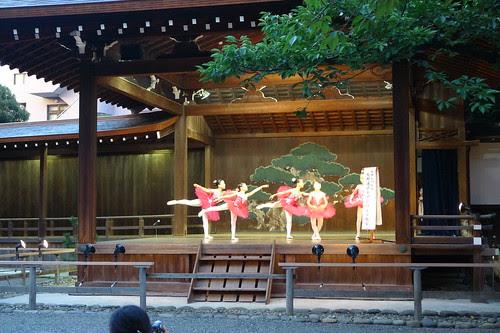 Children performing ballet at Mitama Matsuri