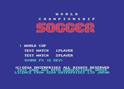 World Championship Soccer - 1