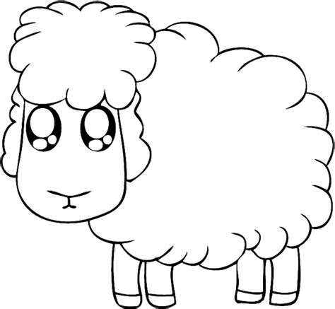 cute lamb easy coloring pages