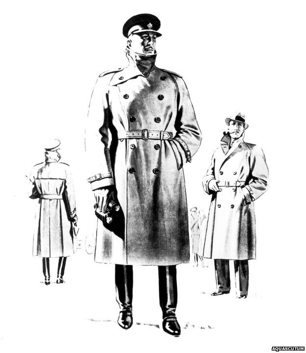 Aquascutum advert for their Storm Coat from the 1940s