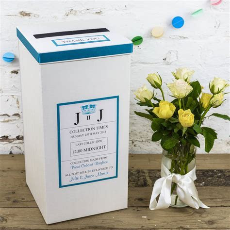 personalised ivory wedding post box by dreams to reality