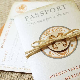 Vintage Mexico Stamp Passport Wedding Invitation (Puerto