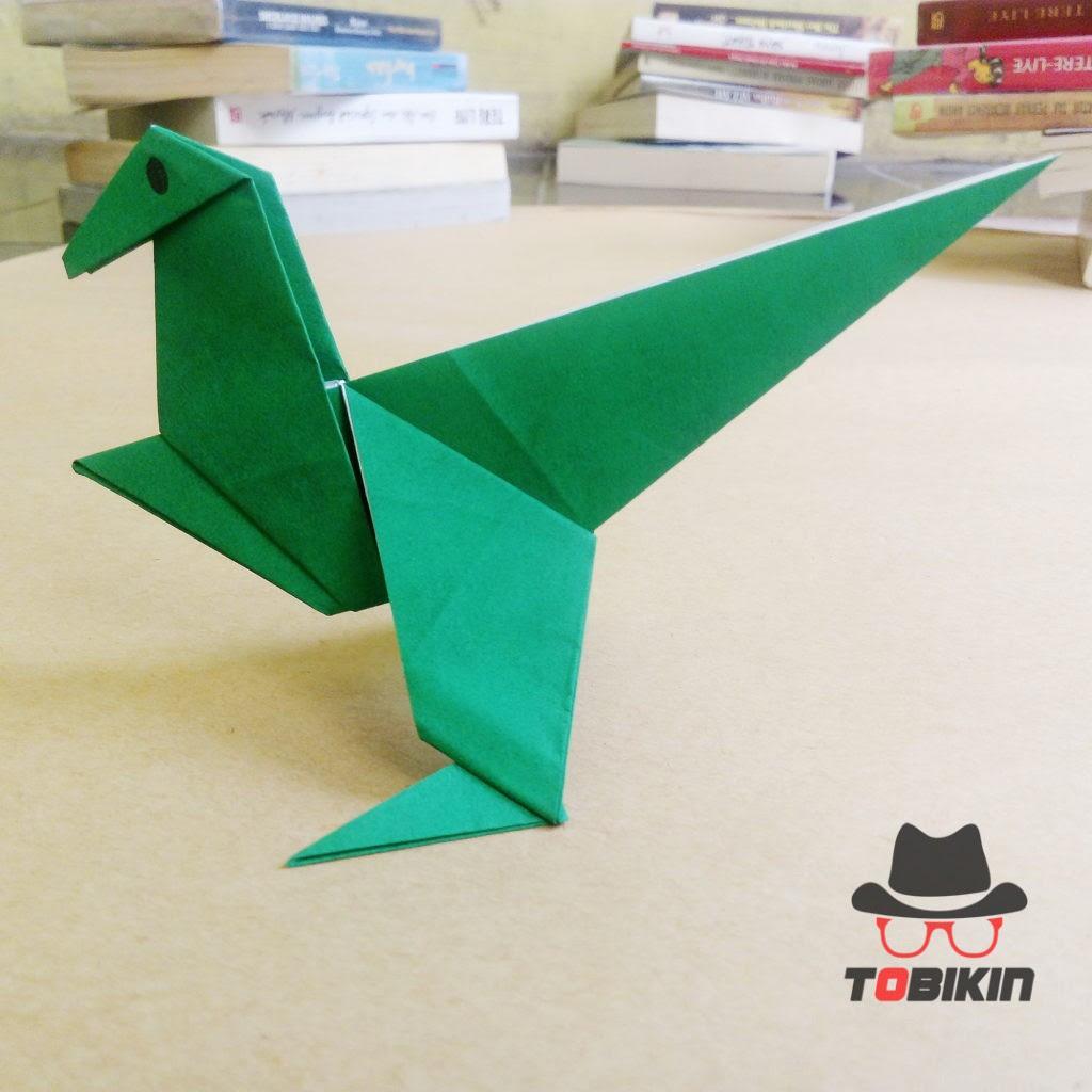 Tutorial Origami Dinosaurus T Rex Tobikin Com