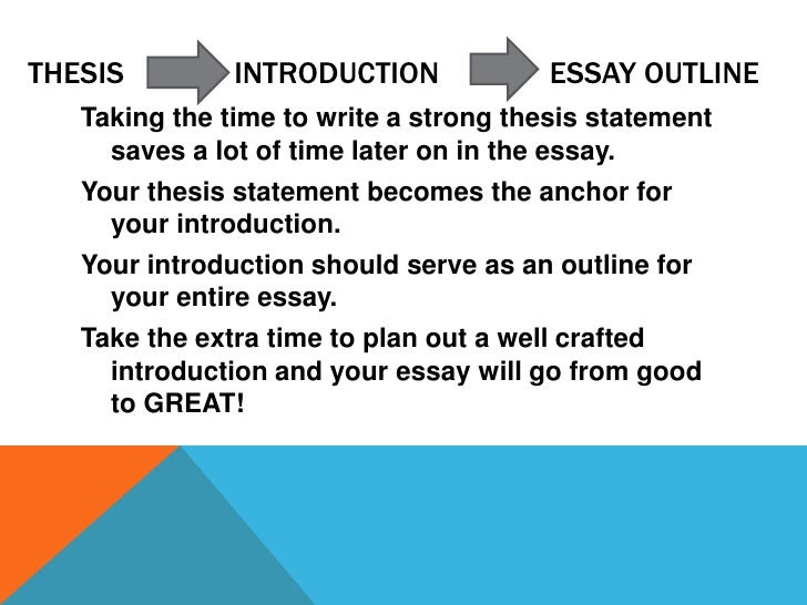 how to write a good thesis statement zillow