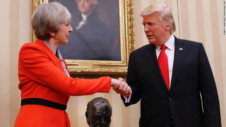 Image result for theresa may trump