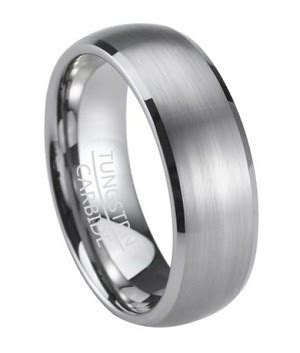 Men's Wedding Band in Tungsten with Satin Finish and