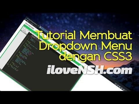 Tutorial Membuat Dropdown Menu dengan CSS3