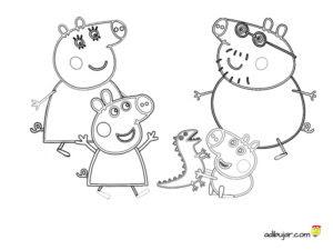 Dibujos Para Colorear A Peppa Pig Imágenes Para Imprimir Adibujarcom