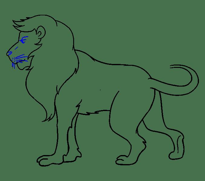 Lion Sketch Tattoo Design