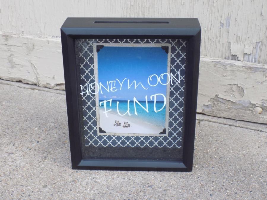Honeymoon Fund Wedding Decoration Dollar Dance Money Box Shadow