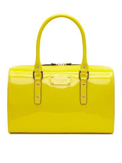 bright yellow purse