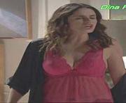 Dina Felix Costa super sensual em lingerie preta em ouro verde