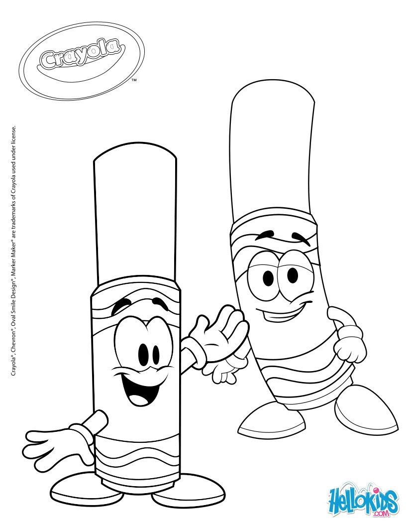 Crayola 7 coloring pages - Hellokids.com