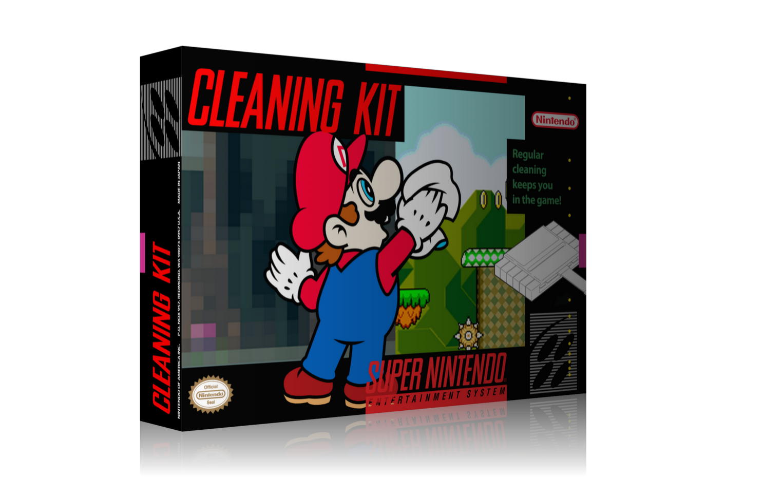 Super Nintendo Cleaning Kit Box Cover