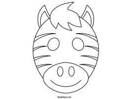printable zebra mask