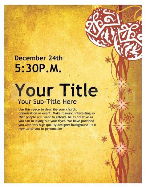 Christmas Flyer Design page 1   bible study invites