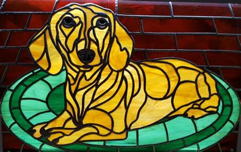 images  stained glass dogs  pinterest