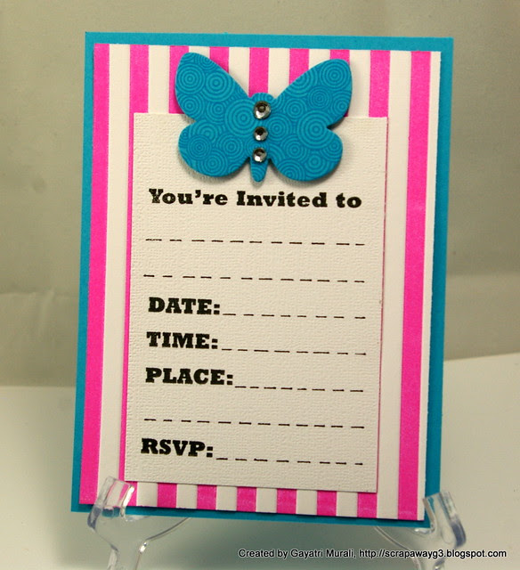 Girl birthday invites
