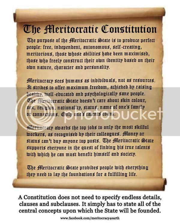 The Meritocratic Constitution