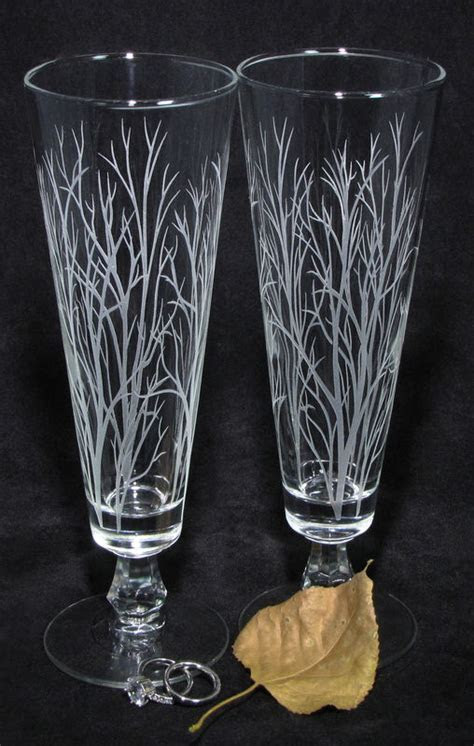 Winter Trees Branches Wedding Decor, Personalized Toasting