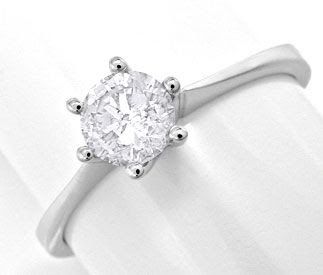Foto 1, BRILLANT-DIAMANT-KRAPPEN-RING 0,51ct TW-F SI LUXUS! NEU, S6978