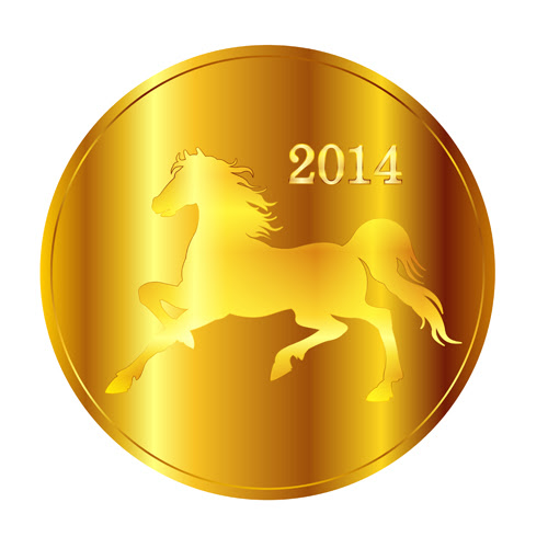 Creative 2014 horses vector graphic 08