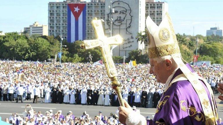 Resultado de imagen de benedicto xvi EN CUBA