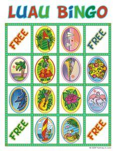 Free printable Luau Bingo Cards! | Party Ideas and Foods ...