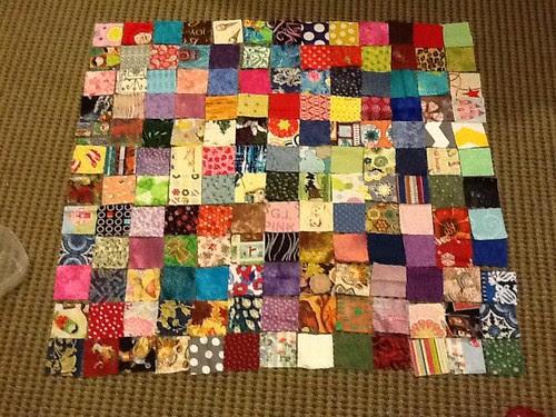All my fabrics for my scrap vomit quilt!