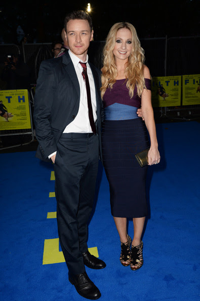 James McAvoy and Joanne Froggatt attend the London premiere of 'Filth' at The Odeon Leicester Square on September 30, 2013 in London, England.