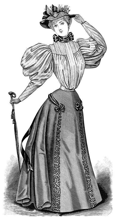 Victorian Lady Pictures Clip Art   Old Design Shop Blog