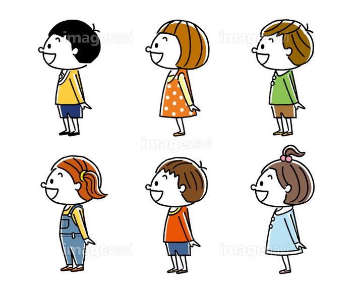 子供たち男の子と女の子横向きの画像素材31123568 イラスト